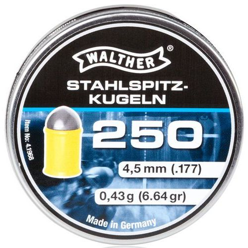 śrut 4,5 mm WALTHER HIGH-POWER półokrągły w polimerowym płaszczu 250 szt. (4.1968.1), kup u jednego z partnerów