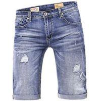Krótkie spodenki męskie tr103 - jeansowe