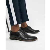 brogues in black leather - black, Dune