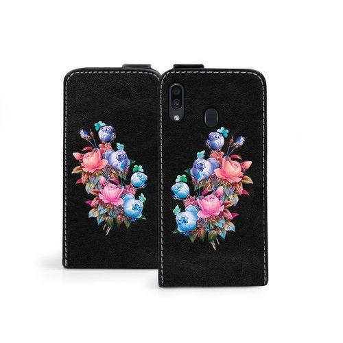 Samsung Galaxy A30 - etui na telefon Flip Fantastic - bukiet róż