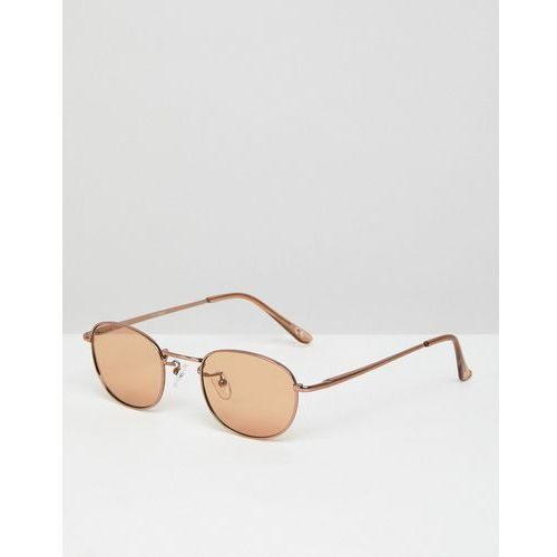 Asos 90s oval fashion sunglasses in light brown lens - brown