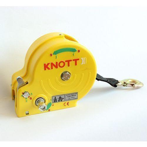 Przyciągarka 450 KG z pasem KNOTT obudowa żółta