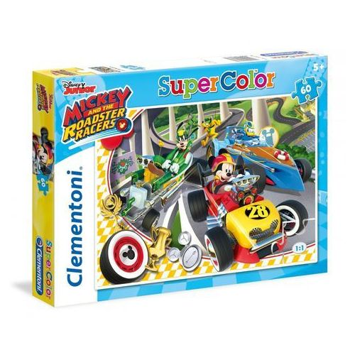 Clementoni Puzzle supercolor 60 mickey and the roadster racers