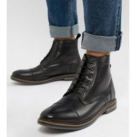 Base london wide fit hockney lace up boots in black - black