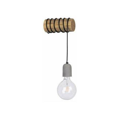 Spot light trabo concrete 69399151 kinkiet lampa ścienna 1x25w e27 drewno/szary (5905840209314)