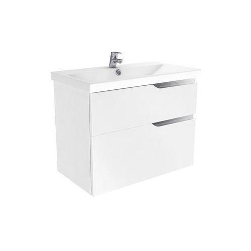 New Trendy Koda szafka wisząca + umywalka biały połysk 80 cm ML-EL280, kolor biały