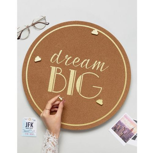 New Look Dream Big Pin Board with Cloud Pegs - Black