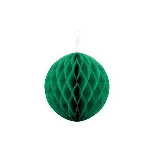 Dekoracja wisząca kula szmaragdowozielona - 20 cm - 1 szt.