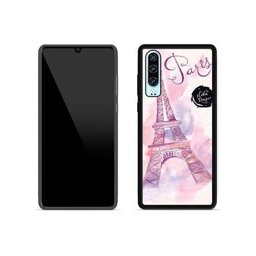 Huawei p30 - etui na telefon aluminum fantastic - różowa wieża eiffla marki Etuo aluminum fantastic