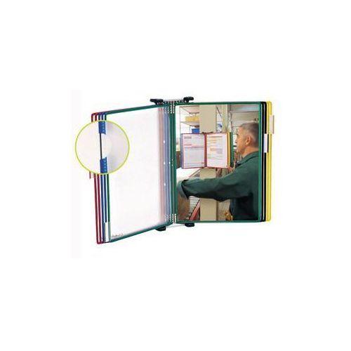 Mocowanie ścienne do przezroczystych paneli prezentacyjnych,kompletny zestaw z 10 przezroczystymi panelami informacyjnymi marki Tarifold