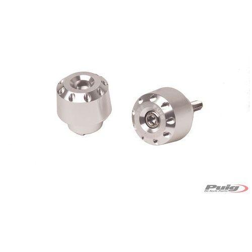 Końcówki kierownicy do Yamaha FZ8 / FZ1 / R6 / R1 (krótkie, srebrne)