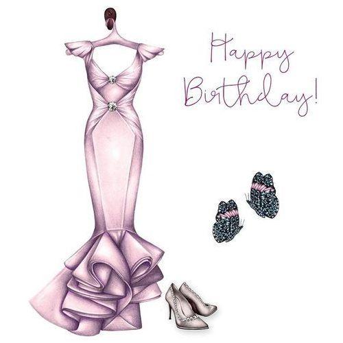 Karnet swarovski kwadrat cl0322 urodziny sukienka marki Clear creations