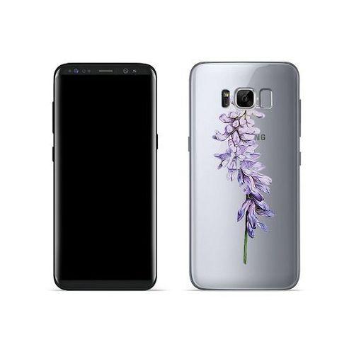 Samsung Galaxy S8 - etui na telefon Crystal Design - Fioletowy kwiat, ETSM489CRDGDG002000