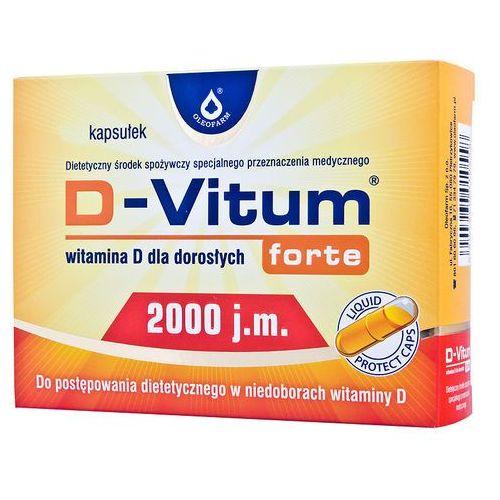 Kapsułki D-Vitum forte witamina D dla dorosłych D3 2000 j.m. 120 kapsułek Oleofarm