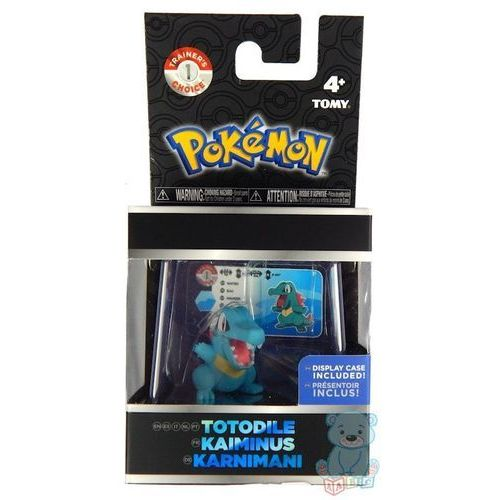 Pokemon tatodile figurka w gablotce marki Tomy