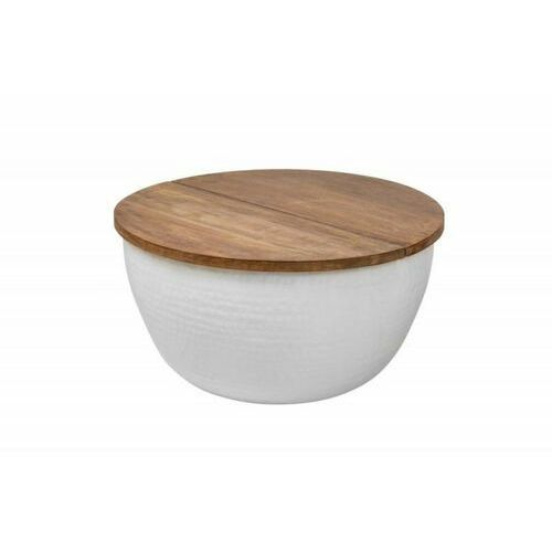 INVICTA stolik kawowy ORIENT STORAGE - 60cm, mango, biały, aluminium
