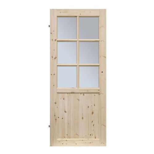 Drzwi pokojowe lugano 90 lewe sosna surowa marki Radex