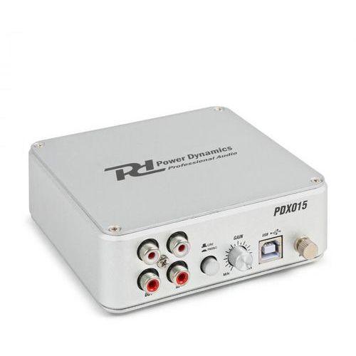 Power dynamics pdx015 przedwzmacniacz phono oprogramowanie port usb 2.0 kolor srebrny (8715693293500)