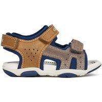 Geox sandały chłopięce agasim, 24, brązowe