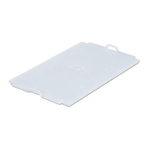 Pokrywa z polipropylenu, do pojemnika dł. x szer. 300x200 mm, naturalny, na 5 l. marki Vectura behältermanagement