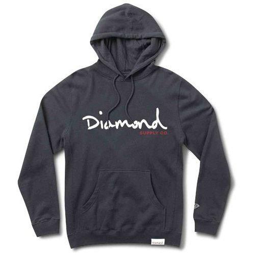 bluza DIAMOND - Og Script Hoodie Sp18 Navy (NVY) rozmiar: 2X, kolor szary