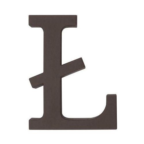 Litera Ł wys. 9 cm PVC brązowa (5901912823334)