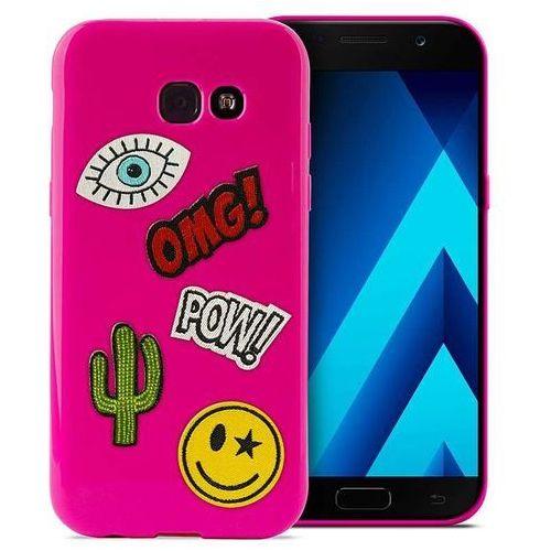 PURO Patch Mania - Etui Samsung Galaxy A5 (2017) w zestawie 5 naklejek (różowy) (8033830183232)