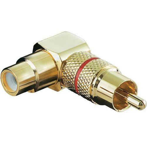 Goobay Adapter rca, wtyk rca / gniazdo rca, pozłacane styki, złoty, czerwony (2050001429223)