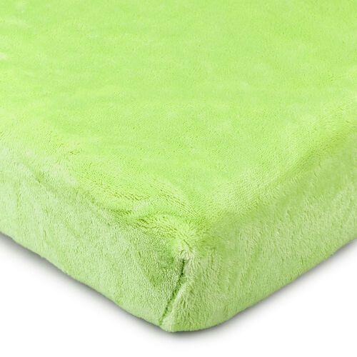 4Home Prześcieradło mikroflanela zielony, 90 x 200 cm (8596175009051)