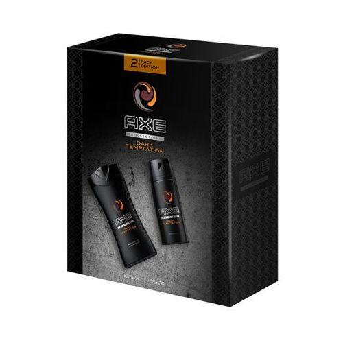 collection dark temptation płyn do mycia ciała i dezodorant w aerozolu zestaw dla mężczyzn marki Axe