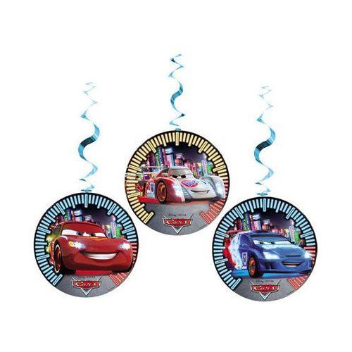 Dekoracja wisząca urodzinowa Cars Neon - 3 szt. z kategorii dekoracje i ozdoby dla dzieci