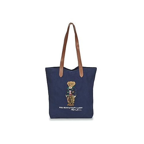 Torby shopper Polo Ralph Lauren PREPPY BEAR TOTE CNVS, kolor niebieski