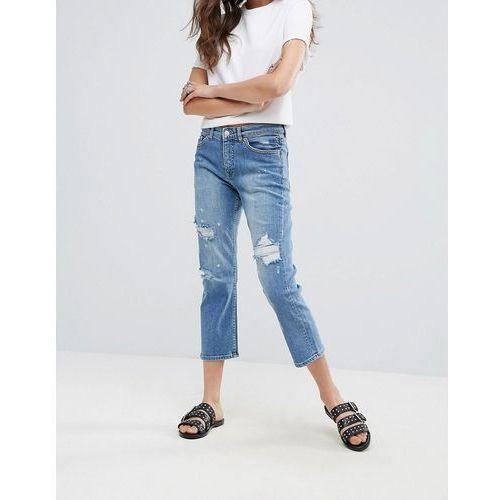 Cheap monday  level destroyed boyfriend jeans - blue