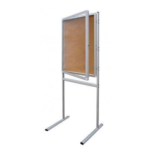 Gablota informacyjna 2x3 model 1 - wewnętrzna na stojaku korkowa 9xA4(75x101cm)