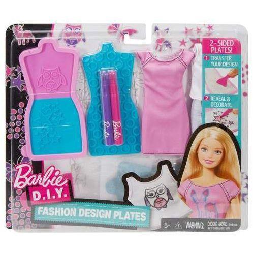 Mattel Barbie zrób to sama stylowe szablony, różowo-niebieskie (0887961423129)