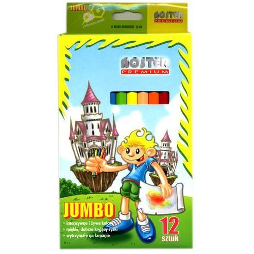 Noster Kredki jumbo 12 kolorów
