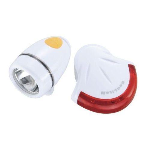 Topeak highlite combo ii - zestaw lamp, biały