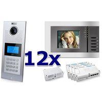 Zestaw wideodomofonowy 12 rodzinny Panel C5 C9E21L-C, 12x Monitor C5 V3, Akcesoria