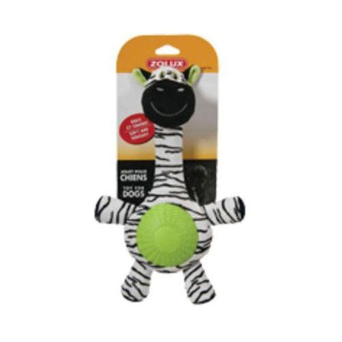 Zebra z dźwiękiem - pluszowo - gumowa zabawka dla psa  - 32 cm marki Zolux