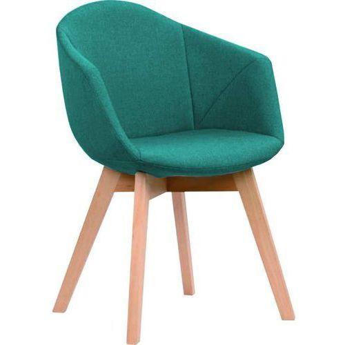 Krzesło Lena turkusowe, kolor niebieski