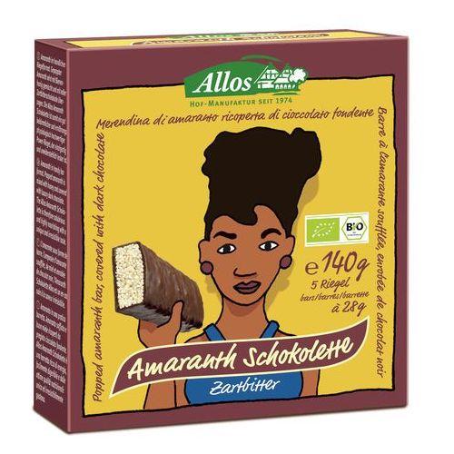 Baton amarantusowy w gorzkiej czekoladzie BIO 140g (5 sztuk) - ALLOS (4016249527303)