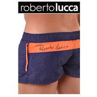 Szorty kapielowe męskie 70146 milano blu notte/orange, Roberto lucca