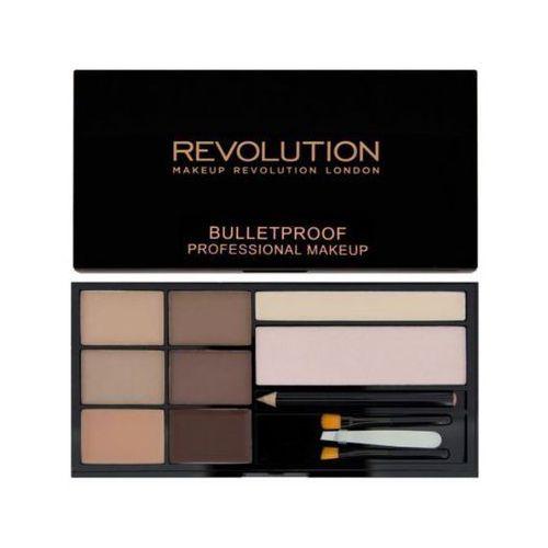 Makeup Revolution, Ultra Brow Palette. Paleta do makijażu brwi, Fair To Medium, 19g - Makeup Revolution (5029066052919)