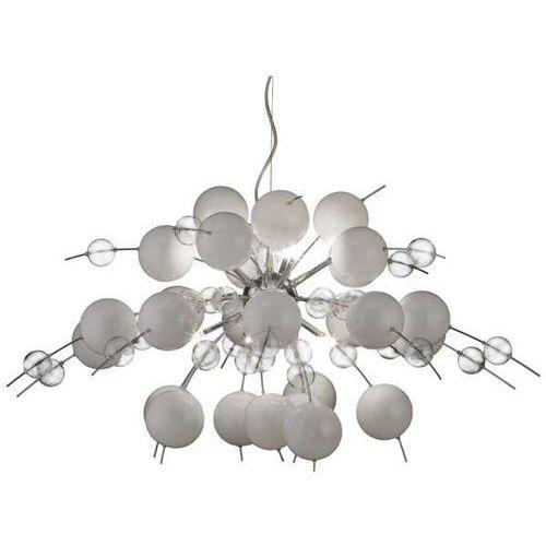 Nowoczesna LAMPA wisząca EXPLOSION 7030923 Nave halogenowa OPRAWA szklany ZWIS kulki bubble bombka biały, 7030923
