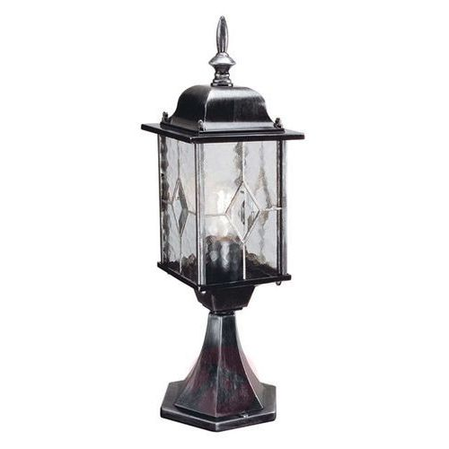 Elstead Słupek lampa stojąca wexford wx3 klasyczna oprawa zewnętrzna latarenka do ogrodu ip43 outdoor srebrna