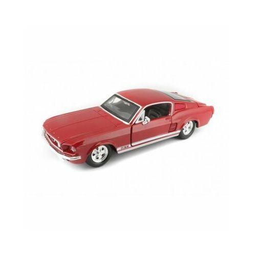 Samochód Ford Mustang GT 1967 czerwony 1/24