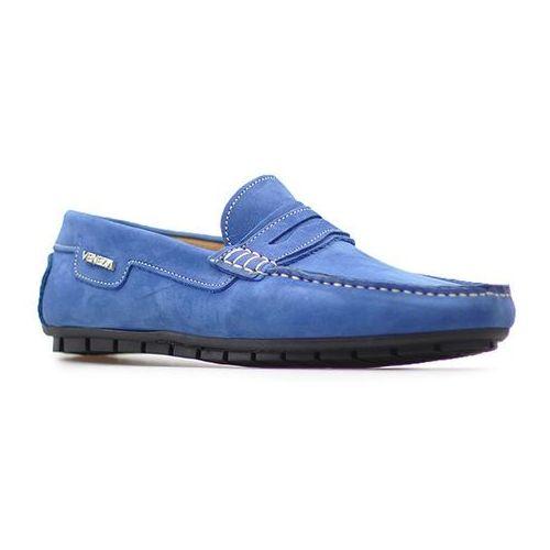 Mokasyny 900alf na azz niebieskie nubuk marki Venezia