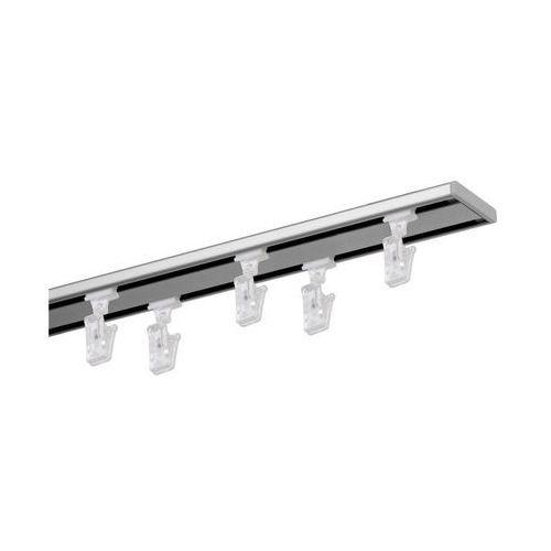 Szyna sufitowa 2-torowa SLIM 160 cm srebrna aluminiowa MARDOM (5902166886519)