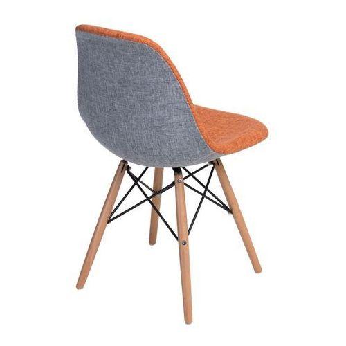 Krzesło P016W Duo inspirowane DSW - pomarańczowy ||szary (5902385715829)