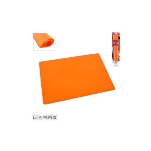 SILIKONOWA MATA STOLNICA -60 x50 cm pomarańczowa